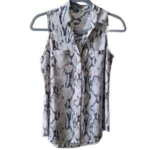 EXPRESS | Portofino Sleeveless Button Up Blouse | Size XS